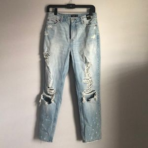 Abercrombie Girlfriend Hi-rise Jeans